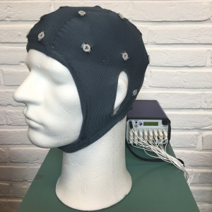 Met de EEGcap meten we de hersenactiviteit